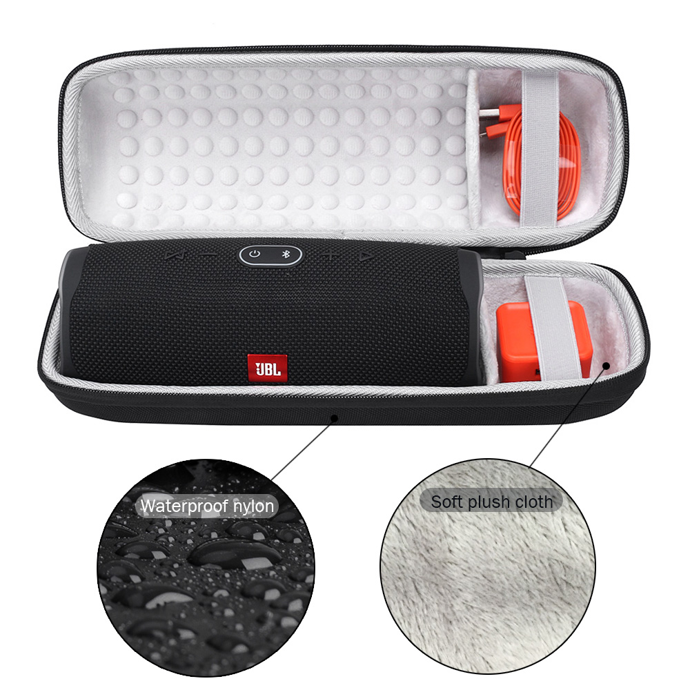 Newest Portable EVA Hard Waterproof Speaker Case For JBL Charge 4 Charge4 Bluetooth Speaker Extra Space For Cable Chargers