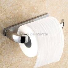 Полированный Хром Латунь Настенные Держатель Туалетной Бумаги Однорычажный Рулонной Бумаги Держатель Удобный Практические Wba838