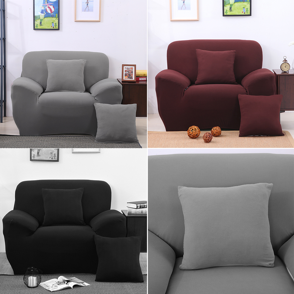 Simple and Elegant One Seater Recliner Cover Retro Recliner Sofa Cover Soft Polyester Spandex Couch slipcover Chair Cover-in Sofa Cover from Home u0026 Garden ... & Simple and Elegant One Seater Recliner Cover Retro Recliner Sofa ... islam-shia.org