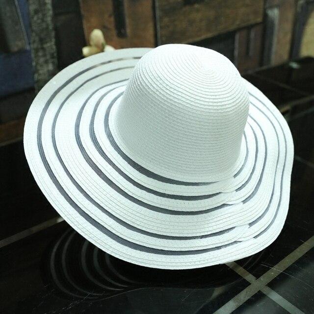 Good quality cheap promotion women girl woman fashion summer straw hat long  big brim foldable floppy 94b84031032