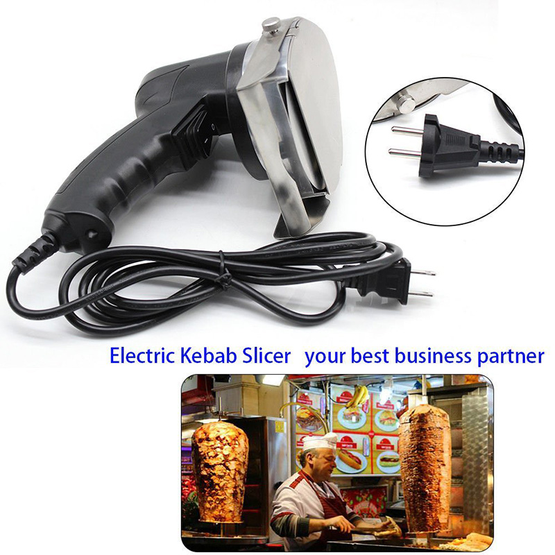 2018 hot sale quality guaranteed doner kebab slicer two blades Electrical kebab knife kebab shawarma gyros