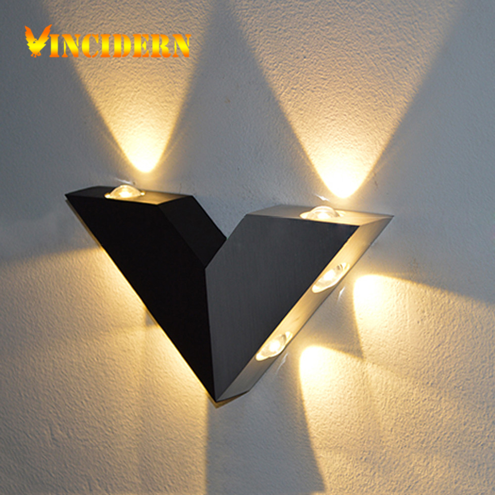 6W Modern Led Wall Lamp Luminaire Bathroom Light Fixture Wall Sconce Triangle Wall Light For ...