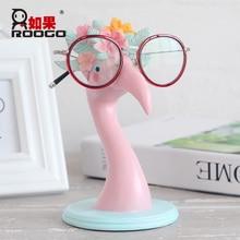 ROOGO Cartoon Animal Deer Giraffe eye Glasses Rack Sunglasses Resin Frame Eyeglasses Display Show Stand Holder