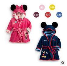 Charactor Robe Polaire Peignoir Enfants Enfants de Roupao De Banho Robes De Noël Bébé Vêtements De Bain Robe Albornoz Infantil Minnie