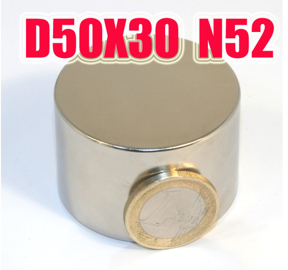 50*30 1PC 50mm x 30mm Big neodymium magnet n52 super strong magnets ndfeb neodimio imanes   holds 85kg sale special offer iman neodimio n52 block super strong rare earth neodymium magnets 40x40x20mm iman neodimio iman neodimio 50mm