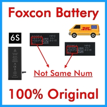 BMT 5pcs/lot Foxcon Factory Battery 1715mAh 3.82V Battery for iPhone 6S replacement repair 100% Genuine Reprinted in 2019