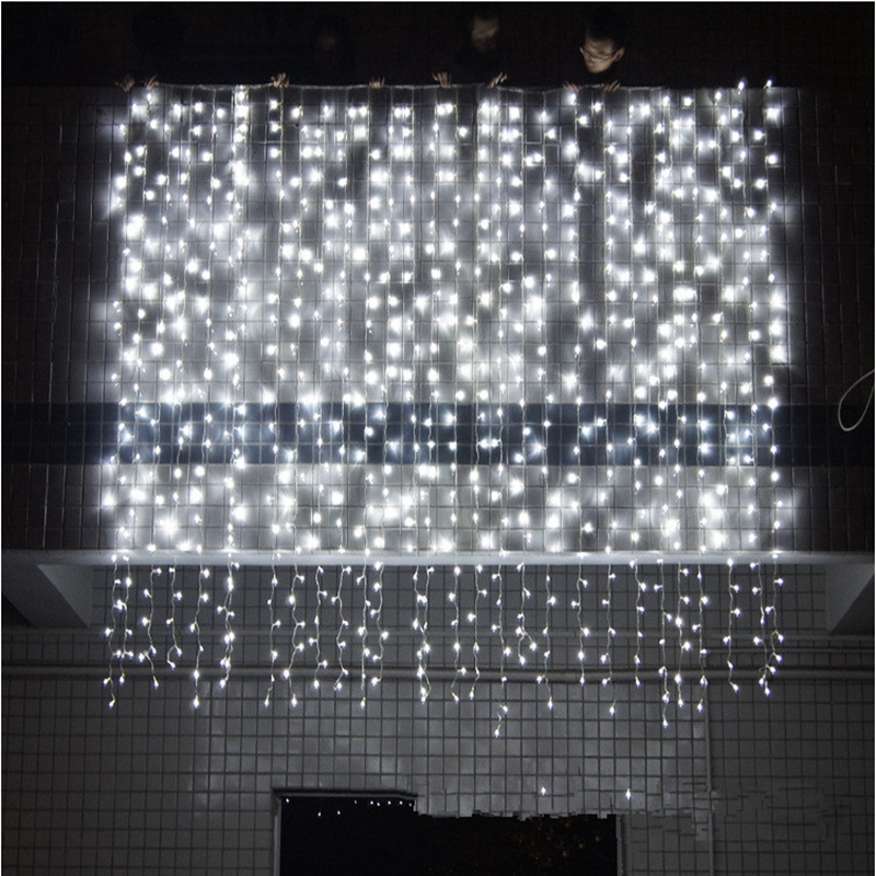 4.5x1/4.5x2/4.5x3m Icicle Led Curtain Fairy String Light  300 Led Christmas Lights For Wedding Home Garden Party Decoration