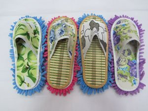 Chenille lazy slippers  can  cleaning dust