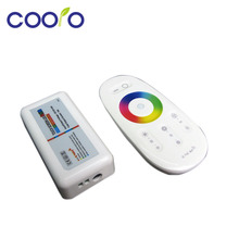 DC12-24A 18A RGB led controller 2.4G touch screen RF remote control for led strip/bulb/downlight 1set/lot