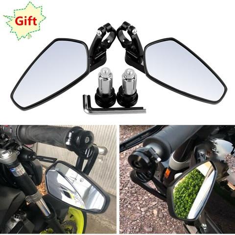 universal motos retrovisor espelho lateral de aluminio cnc para yamaha suzuki kawasaki ktm com 1