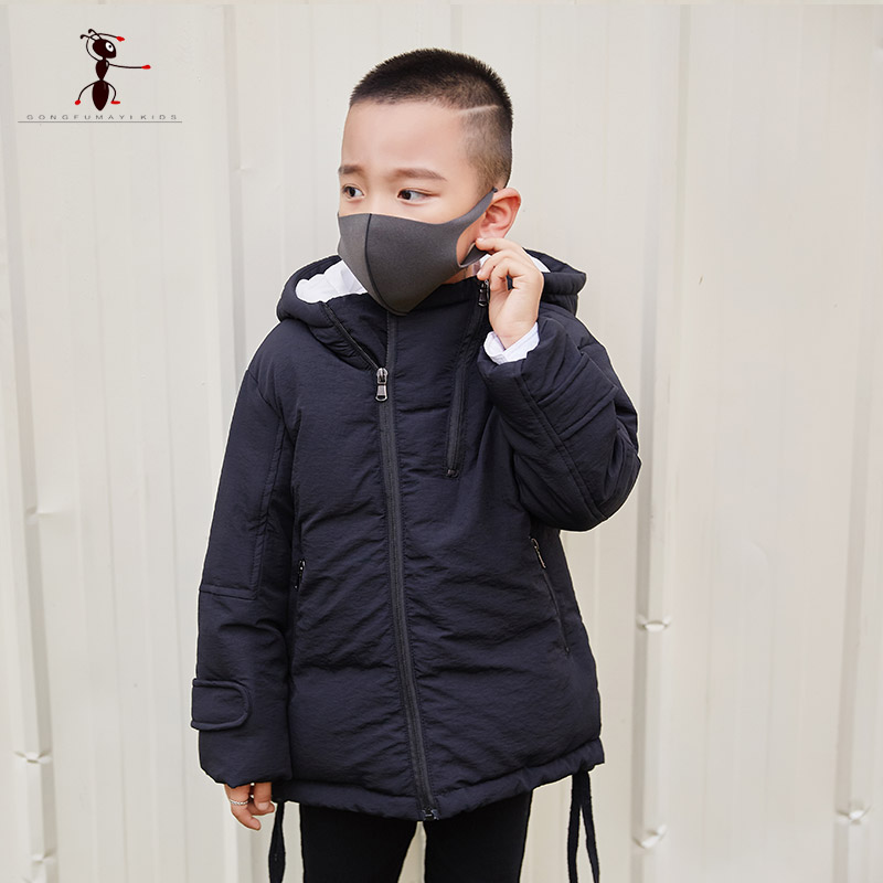 2017 New Arrival Winter Boys Zipper Hooded Cotton Jacket Black Red Casual Coat Warm Thick Outwear 1704003 2017 new arrival winter boys zipper hooded cotton jacket black red casual coat warm thick outwear 1704003