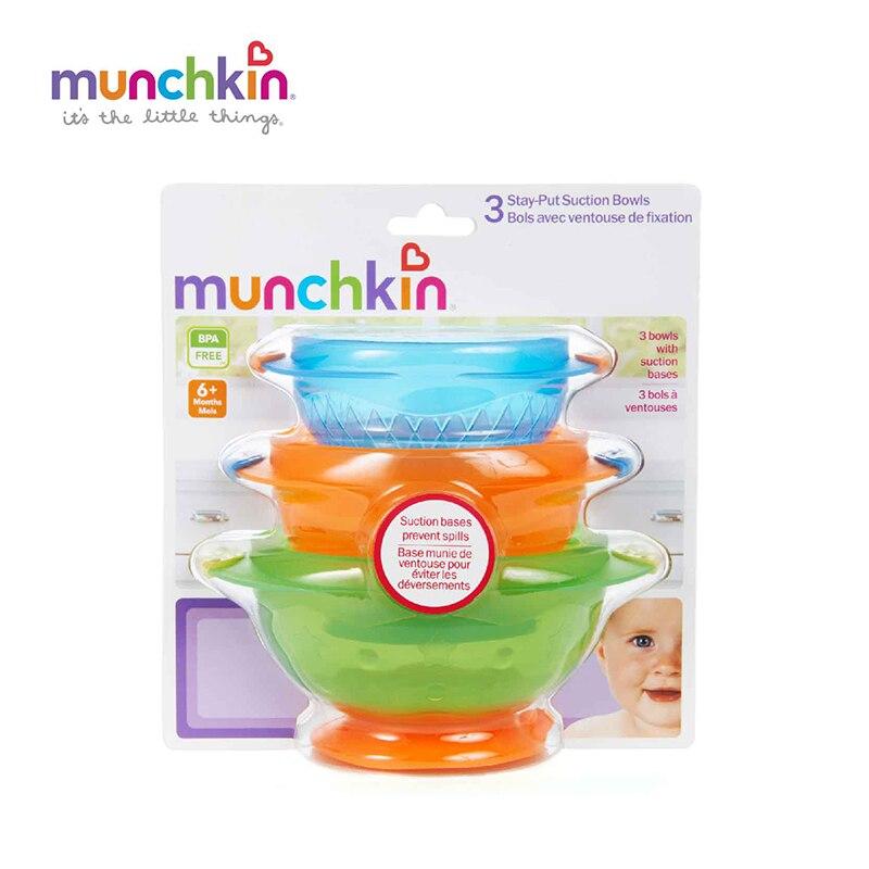 Munchkin Stay Put Miska ssąca Baby 3 Count Baby Niemowlęta boy girl - Karmienie - Zdjęcie 3