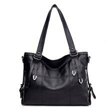 High Quality Women Retro Handbag PU Leather Ladies Tote Crossbody Shoulder Bag Large Top-Handle Bags Purse Satchel недорого