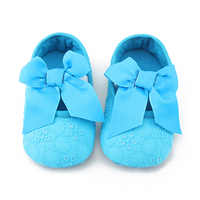 Handmade High Quality Cotton Fabric Baby Girl Shoes Fashion Butterfly-Knot Solid First Walkers  Slip-On Soft Sole Princess Shoes