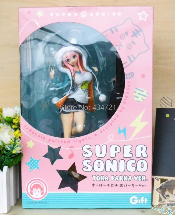 New Hot Nitro+ Super Sonico The Animation Guitar Coat <font><b>Sexy</b></font> 23CM <font><b>Figure</b></font> Toys image