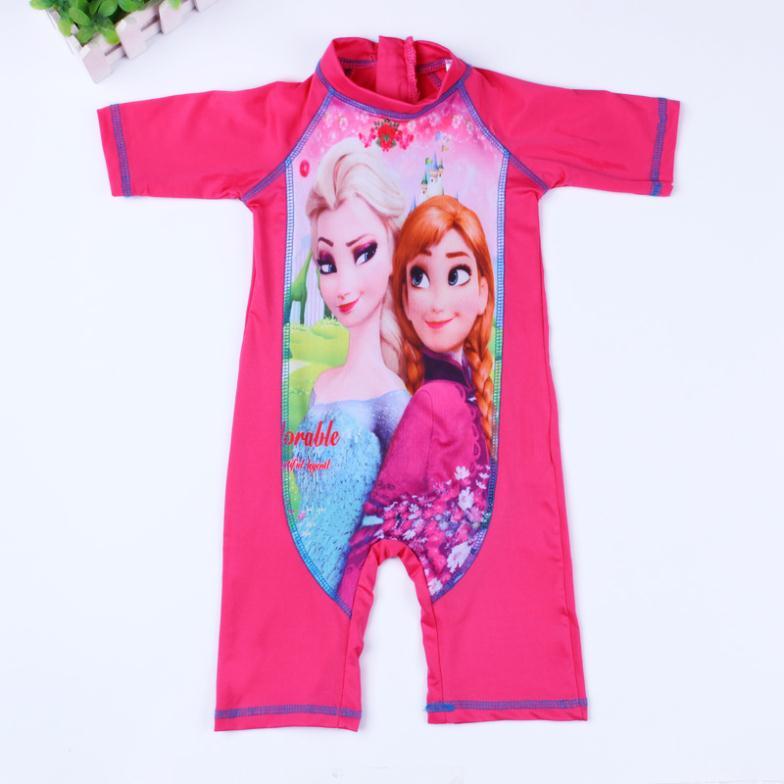 2016 new design hot girls one piece swimwear/Cartoon kids rash guard/ swimsuit - baby-kids store