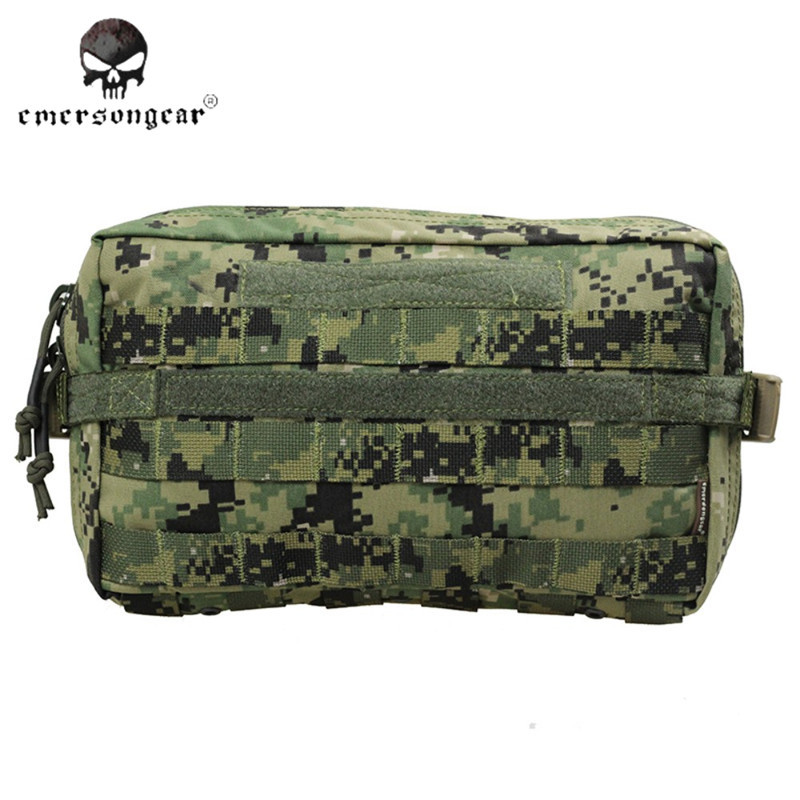 ФОТО Emerson Molle Utility Pouch Tactical Waist Bag Multifunctional Hunting Bags 1000D Nylon Airsoft Military Camo Waist Pack EM8347