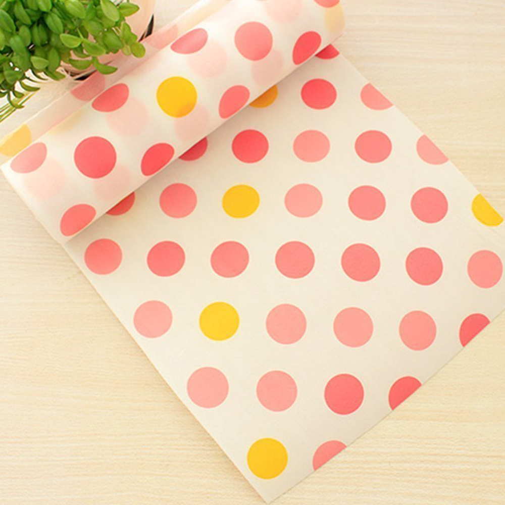 Image 4 - 5 Rolls/Set Non Adhesive Shelf Paper Beautiful Dot Pattern Drawer Storage Liner for Drawer Table Kitchen Cabinets Pantry-in Drawer & Shelf Liner from Home & Garden