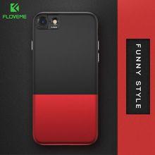 FLOVEME Контрастность Цвет Чехол класса Люкс для айфона 6 6S 7 защитный 2 в 1 гибридный ПК Телефон сумки Чехол для айфона 6 6S PLUS 7 часть фунда