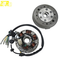TDPRO Motorcycle 6 Coil Ignition Magneto Stator Flywheel For Scooter Lifan Dirt PitBike 110cc 125cc 140cc