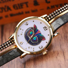 Watch OTOKY Willby Wonderland Cat Watch Wrap Braided Leather Analog Quartz Bracelet Wrist Watch 161213 Drop Shipping
