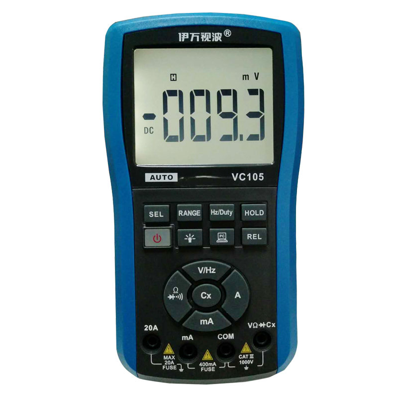 Eone VC105 Waterproof Digital Multimeter DC AC Voltage Current Resistance Frequency Capacitance Diode LCD Digital Multimeter осциллограф eone et201 2k 200khz