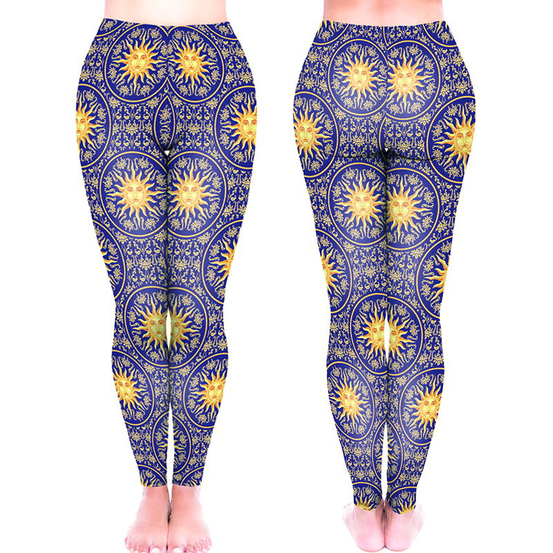 2018 New Funny Leggings Of women mid waist Stretched Workout Leggings peaches aquarelle Patterns