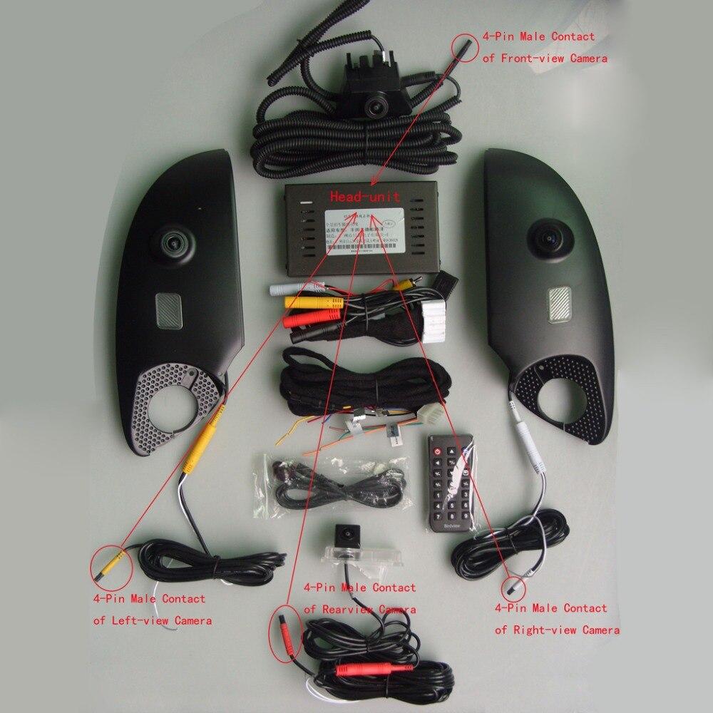 360 Degrés Oiseau Voir Panorama Système surround vue système Spécial pour Toyota Prado Land Cruiser Voiture DVR Enregistrement
