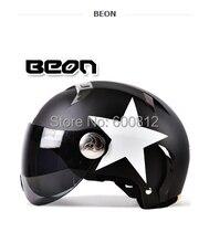 2016 Новый BEON моды личности мотоцикл электрический автомобиль шлем безопасности летом половина шлем Four Seasons Генеральный B-102