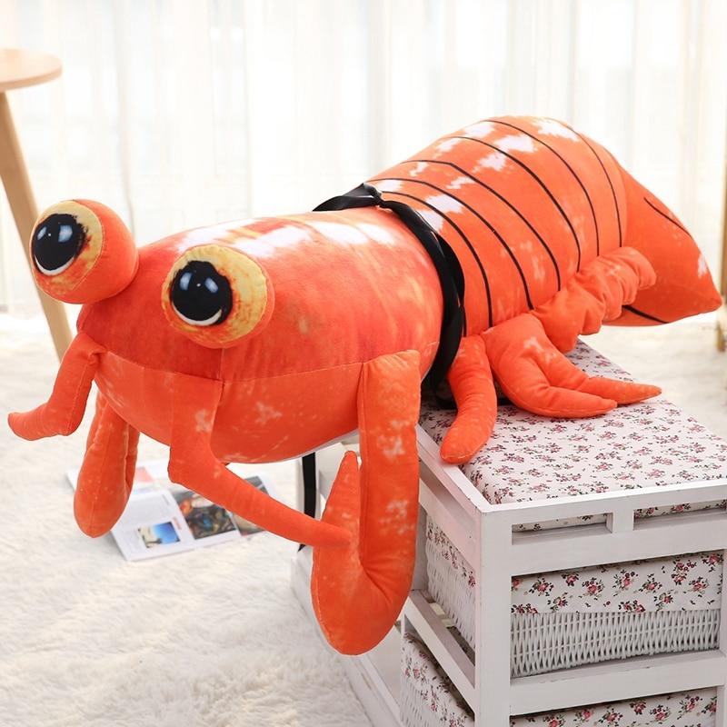 2017 Hot 60cm Simulated Animal Mantis Shrimp Plush Pillow Animal Shrimp Toy Kids Play Doll сланцы animal animal an026awshz88