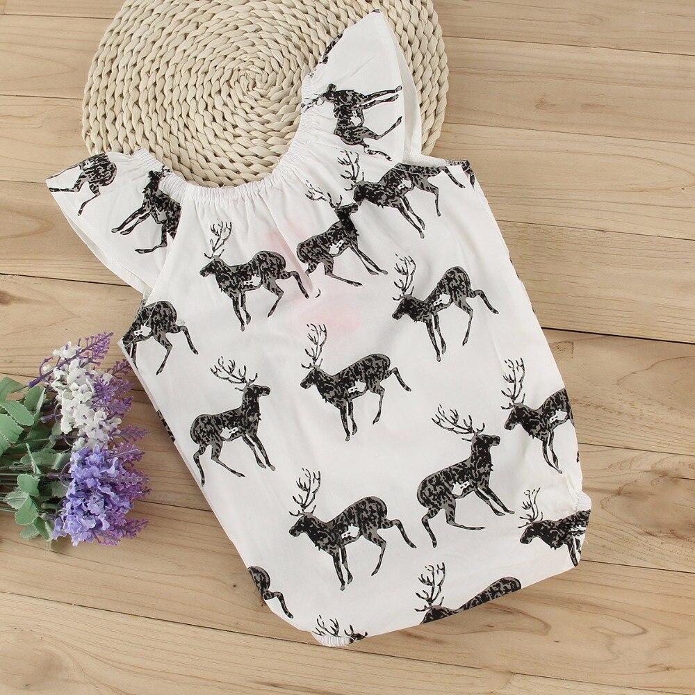 02e2ea34c 2017 Cute Newborn Baby Girls Bodysuits Clothes Deer Short Sleeve ...