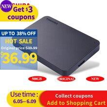 """Внешний жесткий диск TOSHIBA 500 Гб, портативный жесткий диск HD 5400 об/мин, USB 3,0 SATA 2,5 """"мобильный жесткий диск для ноутбука"""