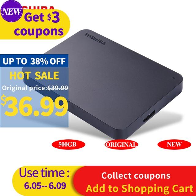 "TOSHIBA 500GB External HDD Portable Hard Drive Disk HD 5400rpm USB 3.0 SATA  2.5"" Mobile HDD Exturnal Hard Drive for Laptop"