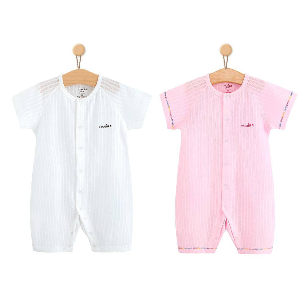2Pcs Summer Baby Clothes Boys Rompers Baby Girls Clothes Cotton Costume Short Pajamas Suit 3 6 9 Months Infant Jumpsuit Clothing