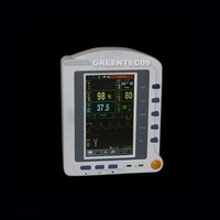 CMS6500 7'' ICU CCU Vital Signs Monitor ECG, Blood Pressure, Oximeter, Pulse Rate, Temperature Multiparameter Patient Monitor