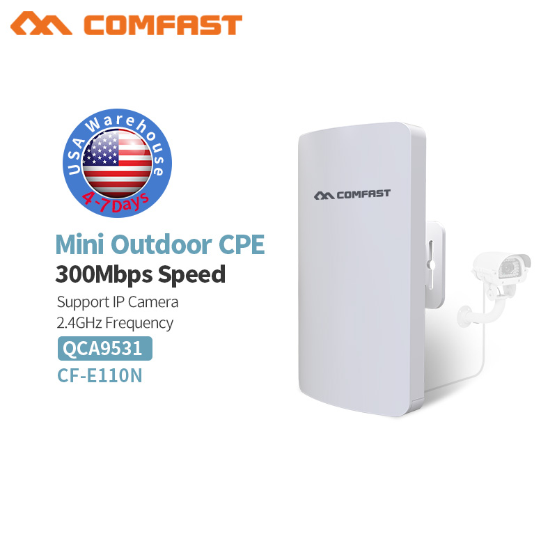 Comfast CF-E110N Outdoor Mini Wireless WIFI Extender Repeater AP 2.4G 300M Outdoor CPE Router WiFi Bridge Access Point AP Router 3km long distance cpe comfast cf e314n wifi router wireless outdoor ap router wifi repeater extender access point client bridge