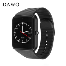 DAWO Bluetooth Smart watch GT08 Smartwatch for Android ios With Sim Card Life Waterproof Sync Notifier Wristwatch with Camera