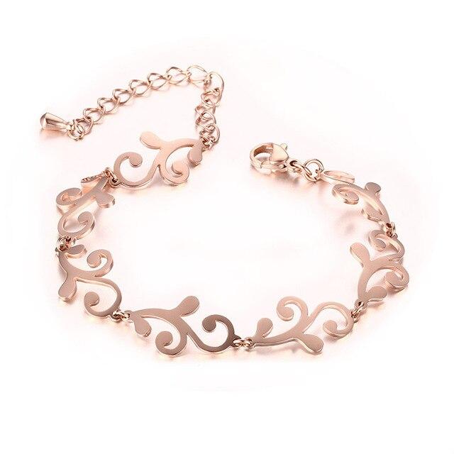 2016 titanium steel jewelry bracelet Of women pattern fashion Ms. Bracelet Rose Gold Bracelet