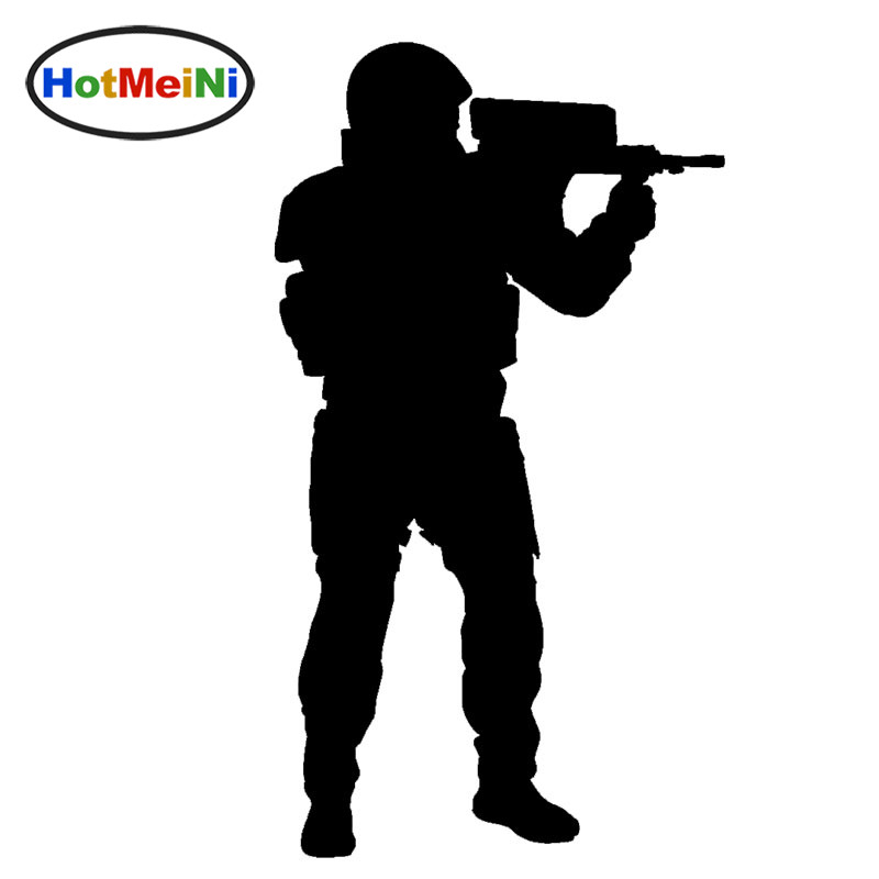 HotMeiNi Cool Sniper Gun Target Shooting Graphic Car Sticker for Window Bumper Smooth Su ...