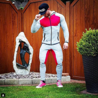 2016 Fitness Men Hoodies Brand Clothing Men Hoody Zipper Casual Sweatshirt Muscle Men S Slim Fit