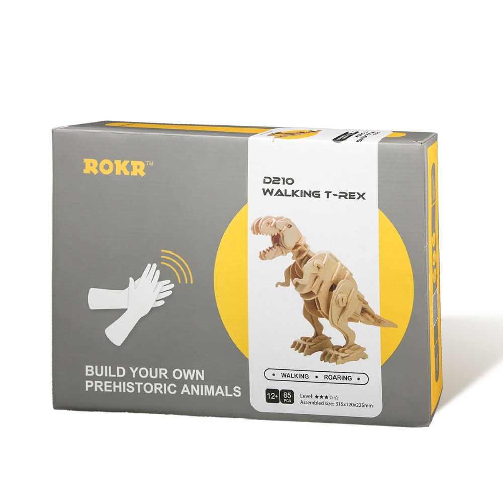 Robud DIY 3D деревянные головоломки дистанционного динозавров звук Управление шагающий Динозавр для мальчиков Игрушки для детей для дропшиппинг D210