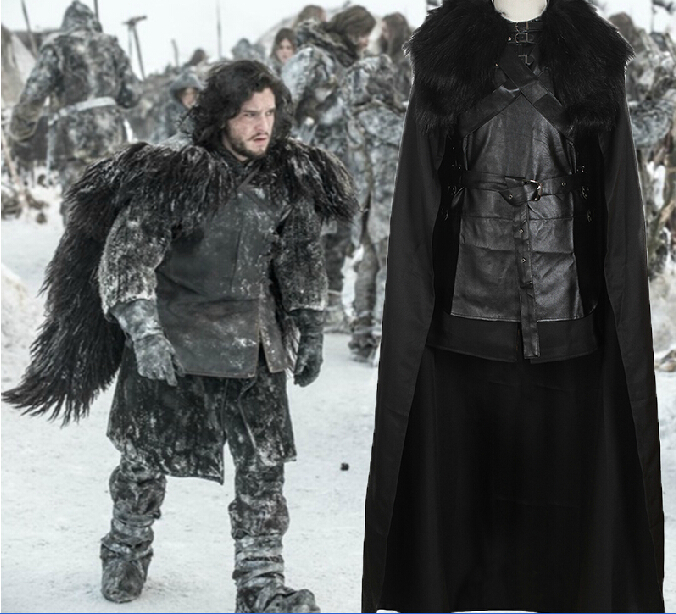 Halloween costumes for adult Men Song of Ice and Fire Game of Thrones jon snow cosplay costume