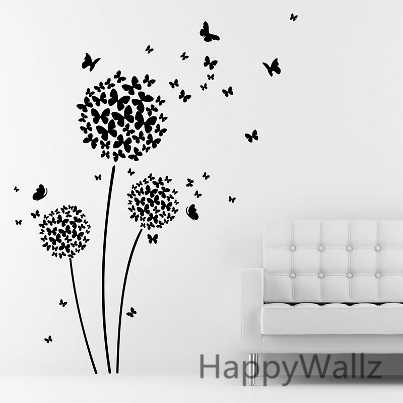 Butterfly And Flower Wall Stickers Good Looking
