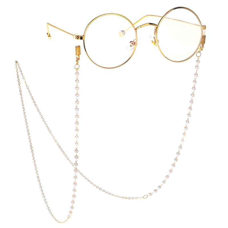 Glasses Chain Simulated Pearl Mini Beads Strap Non Slip Necklace Decoration String Rope Lanyard Cord Fashion For Reading Glasses