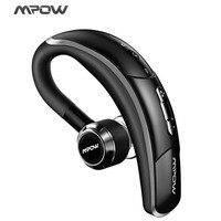 Original Mpow Single Bluetooth V4 1 Wireless Earphone With Mic Hands Free Call 180 Dehree Rotable
