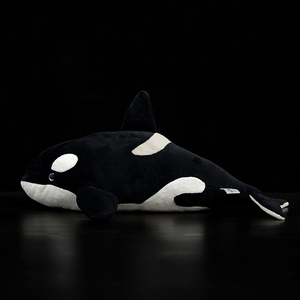 """Image 2 - 15"""" Lifelike Extra Soft Orca Plush Toy Killer Whale Stuffed Animal Toys For Kids Ocean Life Toy Birthday Gifts"""