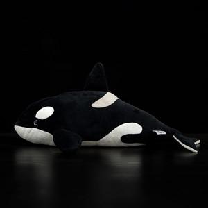 Image 2 - Juguete de peluche de 15 pulgadas con forma de ballena para niños, juguete de felpa con relleno de Animal