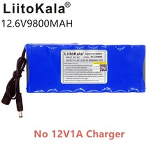 HK LiitoKala High Quality EU/US Plug DC 12V 9800mAh Lithium Ion Rechargeable Battery Pack Charging Mobile Power No 12V1A Charger hk liitokala 54 6v 2a charger 13s 48v li ion battery charger output dc 54 6v lithium polymer battery charger free shipping