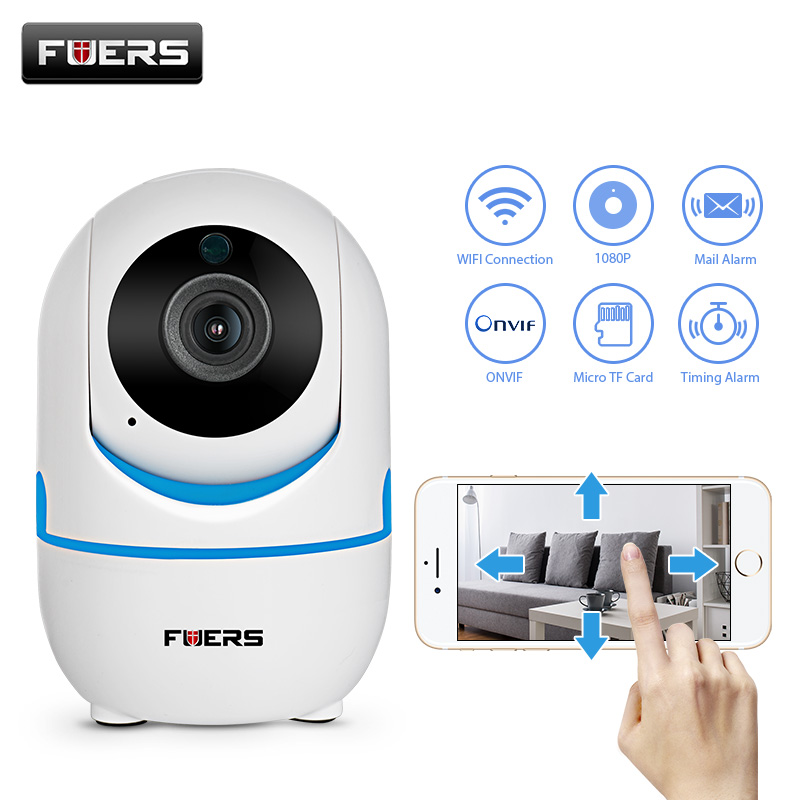 FUERS HD 720P/1080P Wifi IP Camera Two-way Audio Indoor Home Security CCTV Surveillance Night Vision Wireless Mini Baby Monitor
