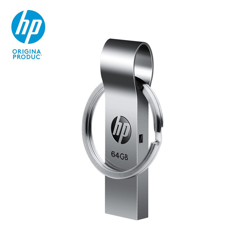 New HP USB Flash Drive 64GB Metal Thumb Drives Key Ring Custom Memory Stick v285w Cle USB Disk on Key OTG USB C Pen Drive 64 gb